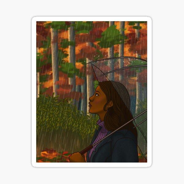 Rainy Autumn Day Sticker