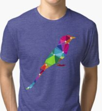 Colorful abstract artistic bird Tri-blend T-Shirt