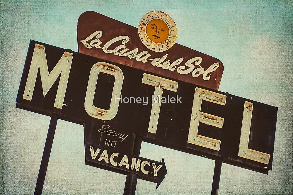 La Casa Del Sol Motel Sign by Honey Malek