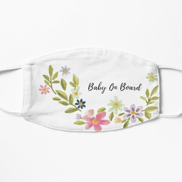 Baby On Board Mask Love Baby Design Flat Mask