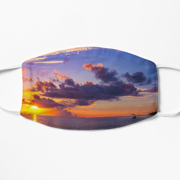 Purple Sandbar Sunset Mask