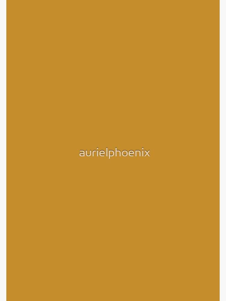 Simply Saffron - Simple Ochre / Yellow Design - Fall Color Trends by aurielphoenix