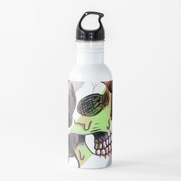 agender melting skull Water Bottle