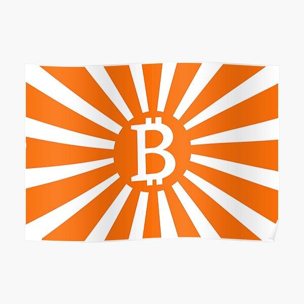 Bitcoin War Flag Poster