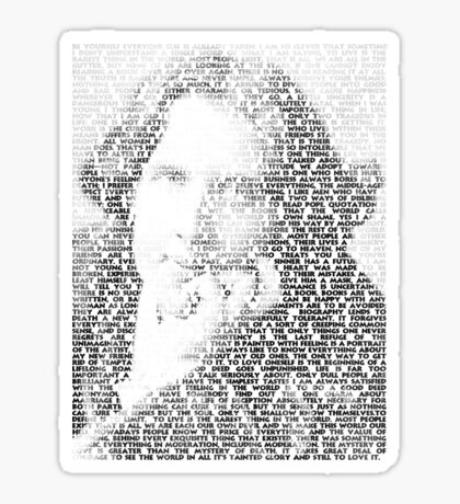 Oscar Wilde Quotes Sticker