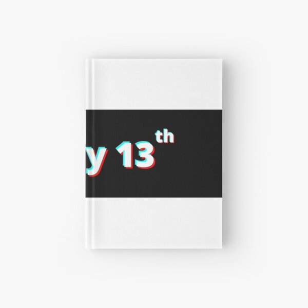 friday 13th print Hardcover Journal