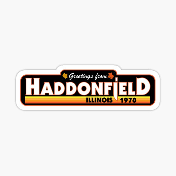 Greetings from Haddonfield Halloween 1978 Sticker
