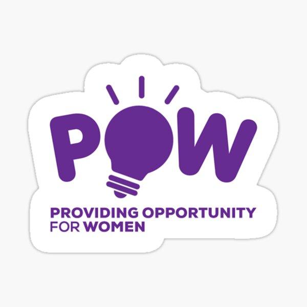 Providing Opportunity for Women Purple Logo Sticker