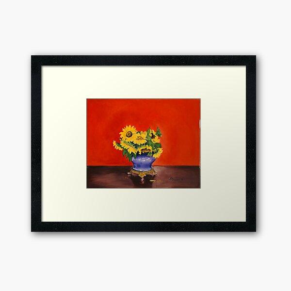 Donna's Sunflowers Framed Art Print