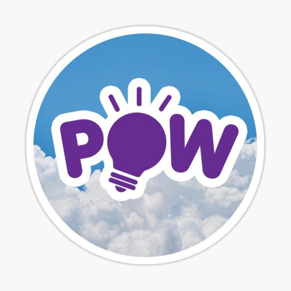 POW Logo with Clouds Background Sticker