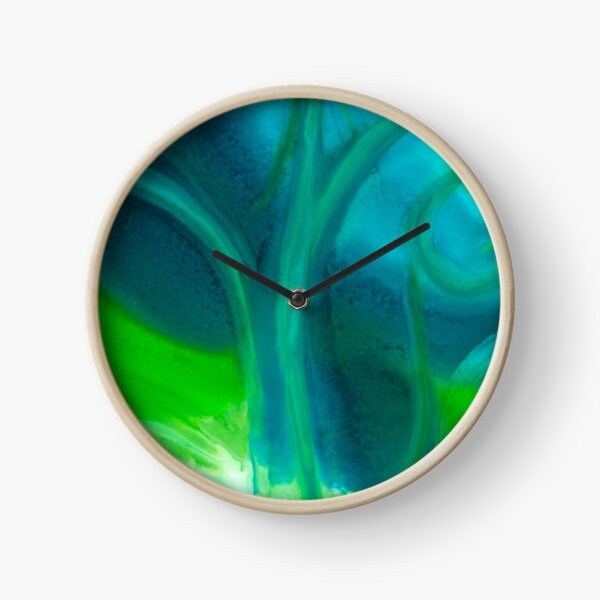 Amoeba Swirl Clock