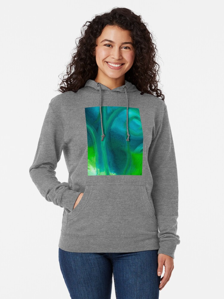 Alternate view of Amoeba Swirl Lightweight Hoodie