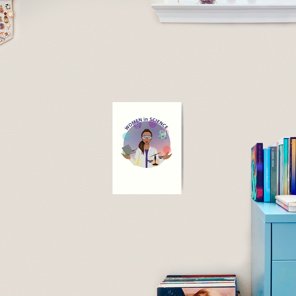 Women in Science (the Juggler) Art Print