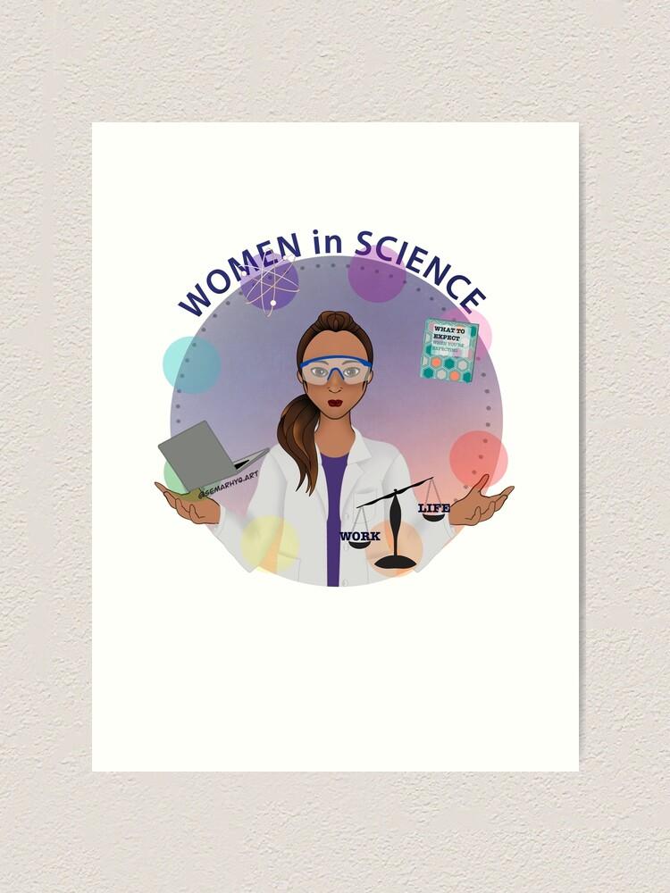Alternate view of Women in Science (the Juggler) Art Print