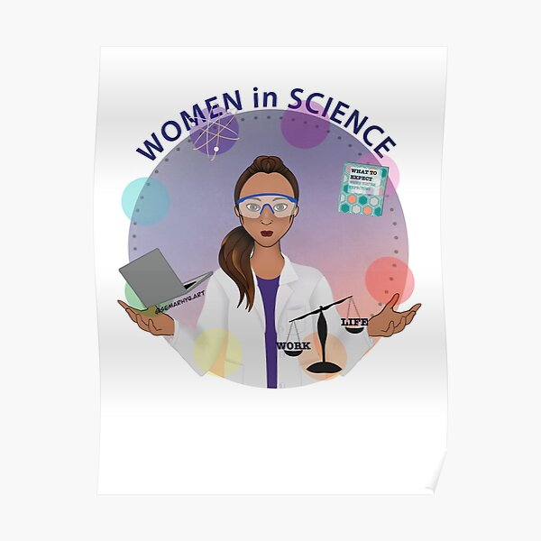 Women in Science (the Juggler) Poster