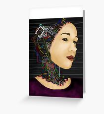Cyborg in disguise Greeting Card