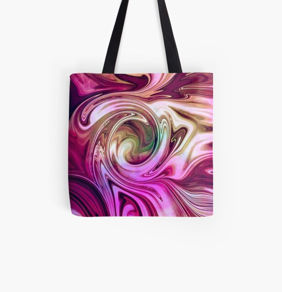 Succulent Swirls All Over Print Tote Bag