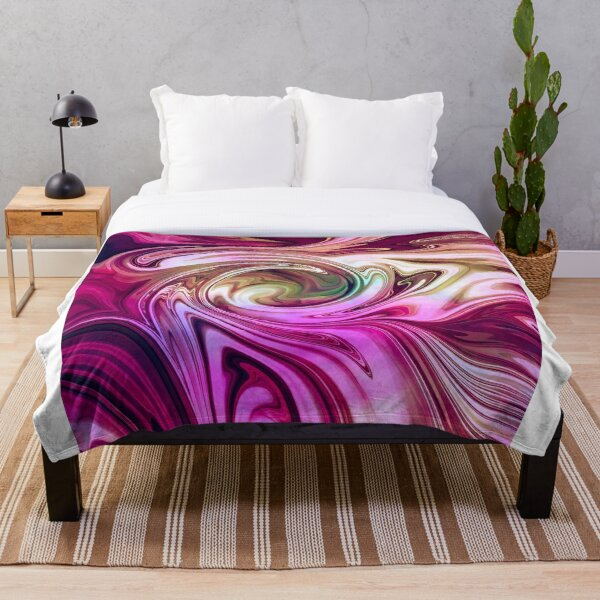 Succulent Swirls Throw Blanket