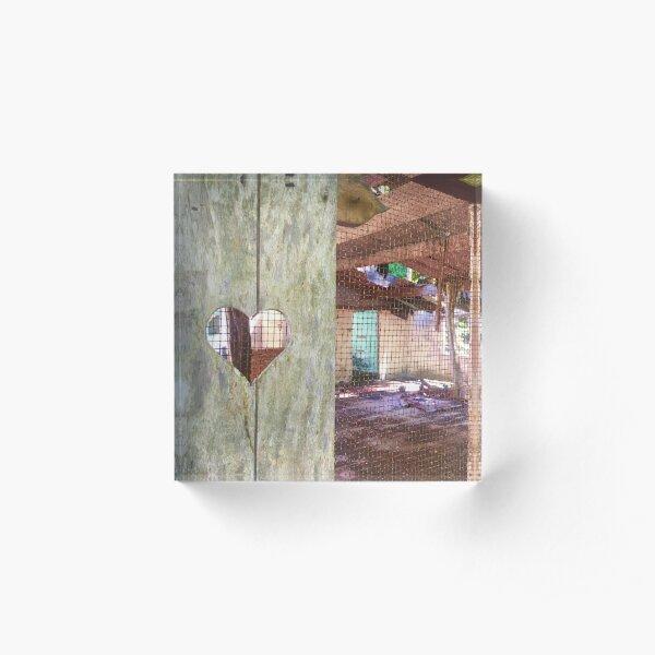 Abandoned Honeymoon Suite Acrylic Block