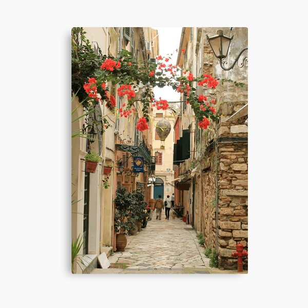 Corfu Street View Canvas Print