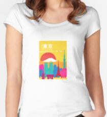 TRAVEL TO TOKYO Women's Fitted Scoop T-Shirt