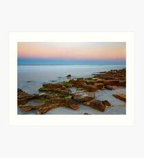 Rocky Beach Sunset Art Print