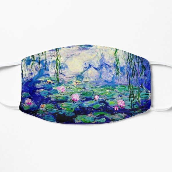 Claude Monet Water Lilies   Landscapes of Water and Reflection Flat Mask