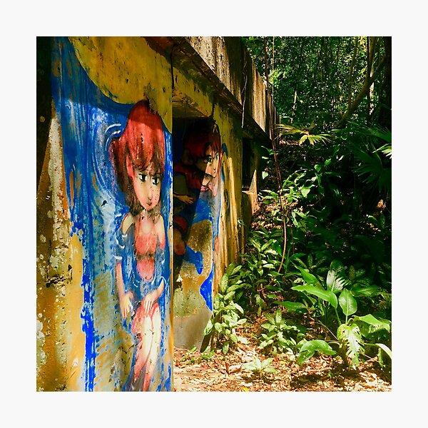 Jungle Graffiti Photographic Print