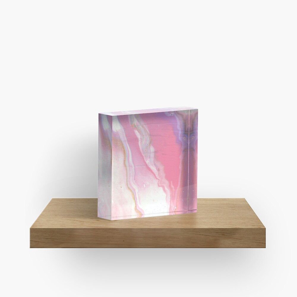 Pink River Acrylic Block