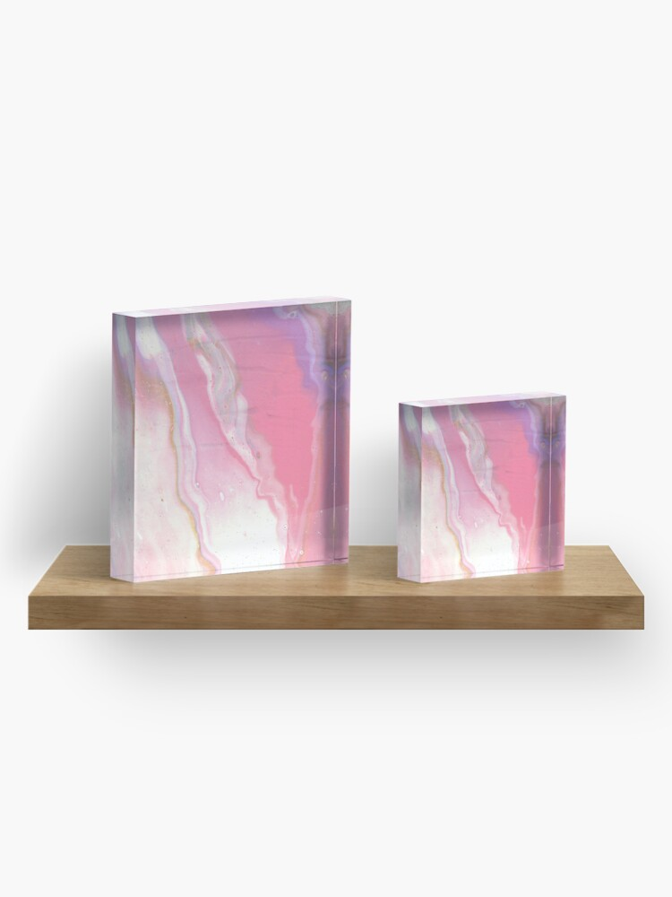 Alternate view of Pink River Acrylic Block