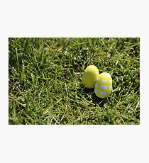 Yellow Easter eggs Photographic Print