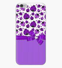 Purple Ladybugs iPhone Case