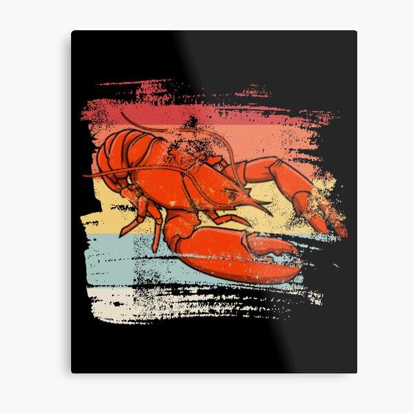 Retro lobster  Metal Print