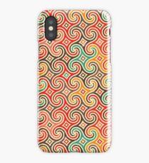 Retro pattern with swirls iPhone Case/Skin