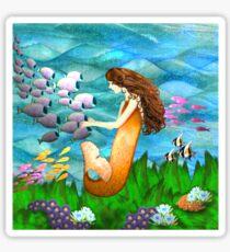 Mermaid and Fish Sticker