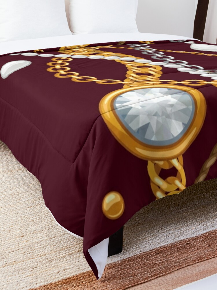 Alternate view of Jewelry on chocolate brown color Comforter