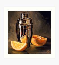 Orange & Martini Art Print