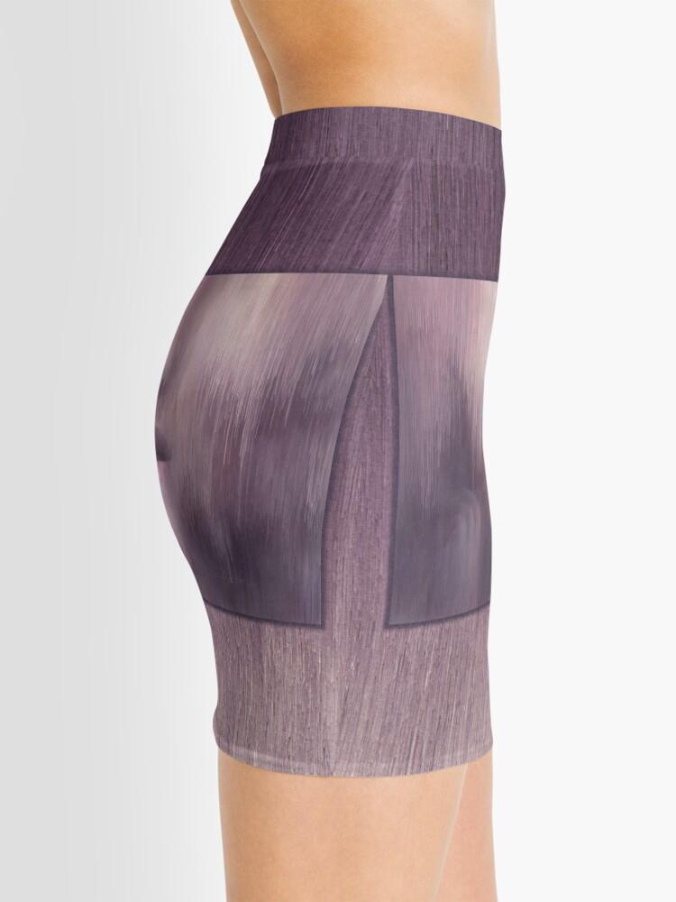 "Alternate view of ""Succumb"" (tears, sadness, giving up) painting - ""Smile"" Fine Art series Mini Skirt"