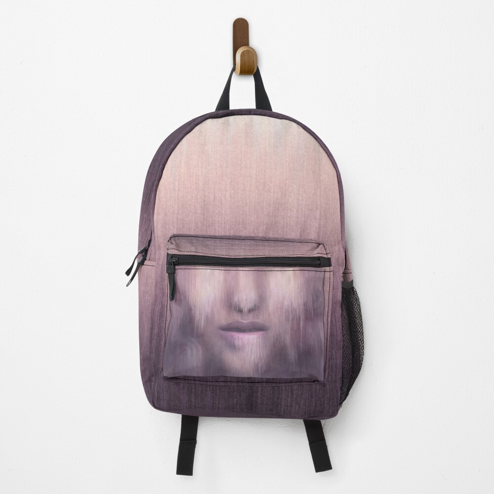 """""""Succumb"""" (tears, sadness, giving up) painting - """"Smile"""" Fine Art series Backpack"""