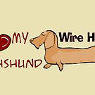 I love my wire haired dachshund by Diana-Lee Saville