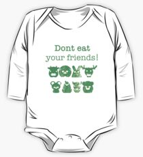 Don't Eat Your Friends One Piece - Long Sleeve