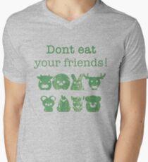 Don't Eat Your Friends Men's V-Neck T-Shirt