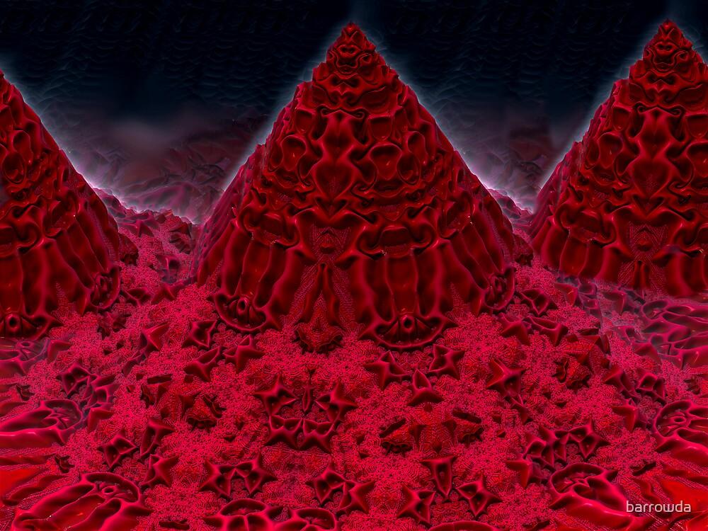 Grand Teton Mountains of Red Velvet Cake by barrowda