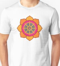 Lotus Buddhist Dharma Wheel T-Shirt