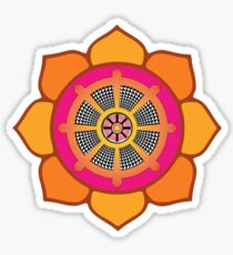 Lotus Buddhist Dharma Wheel Sticker