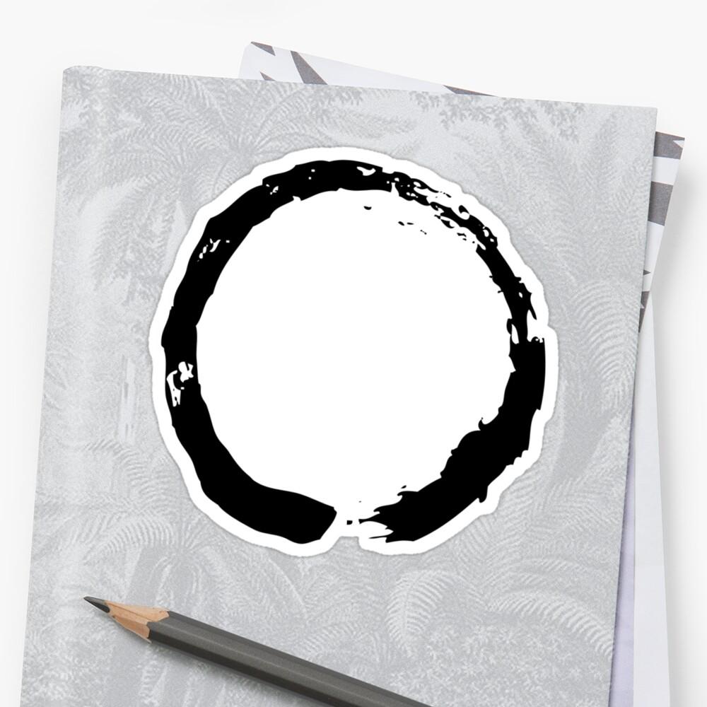 Zen Buddhist Enso Symbol Stickers By Mindofpeace Redbubble