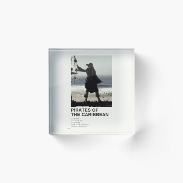 pirates of the caribbean ivory poster Acrylic Block