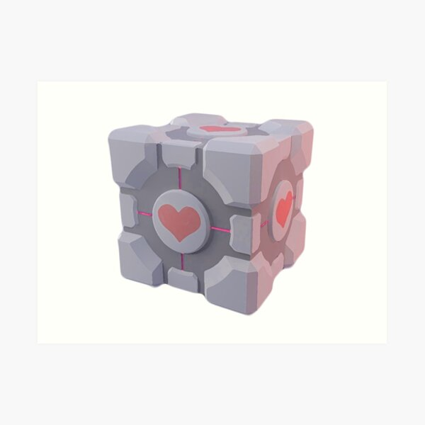 Portal Companion Cube Art Print