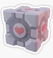 Portal Companion Cube Sticker