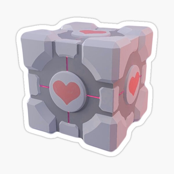 Portal Companion Cube Sticker